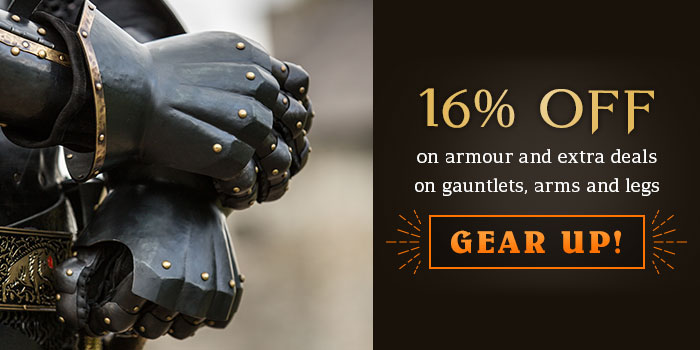 20% off on armour and extra deals on gauntlets, arms and legs