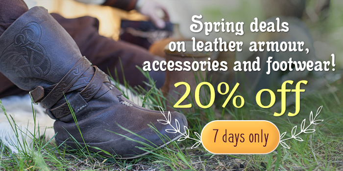 Spring deals on leather armour, accessories and footwear!