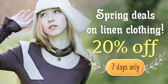 Spring deals on linen clothing! 20% off