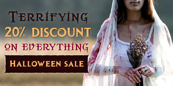 Halloween sale! 20% off on everything