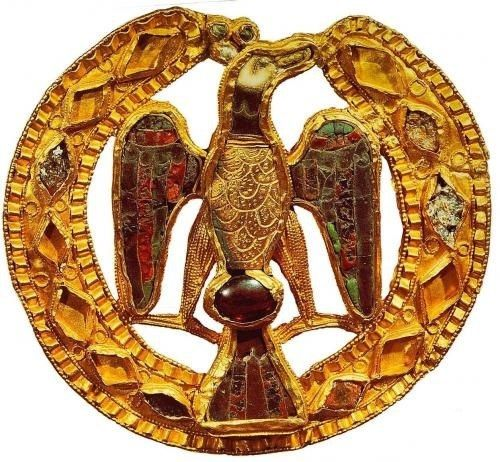Eagle buckle from the treasury of Empress Gisela, circa 1025