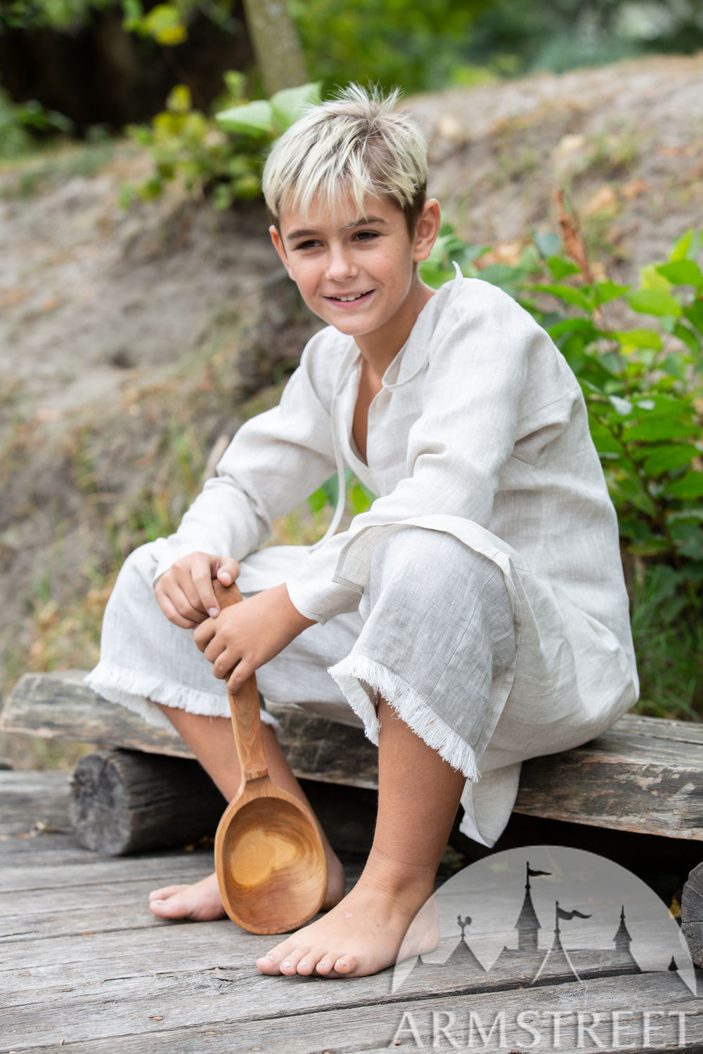 "Linen medieval underpants for kids ""First Adventure"""