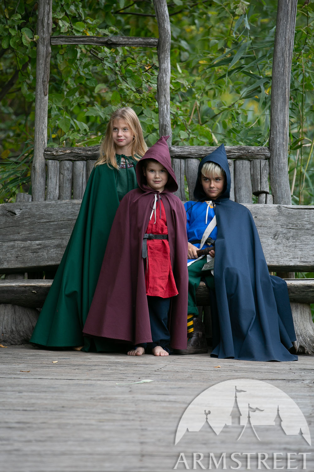 "Cotton cloak with hood for kids ""First Adventure"""
