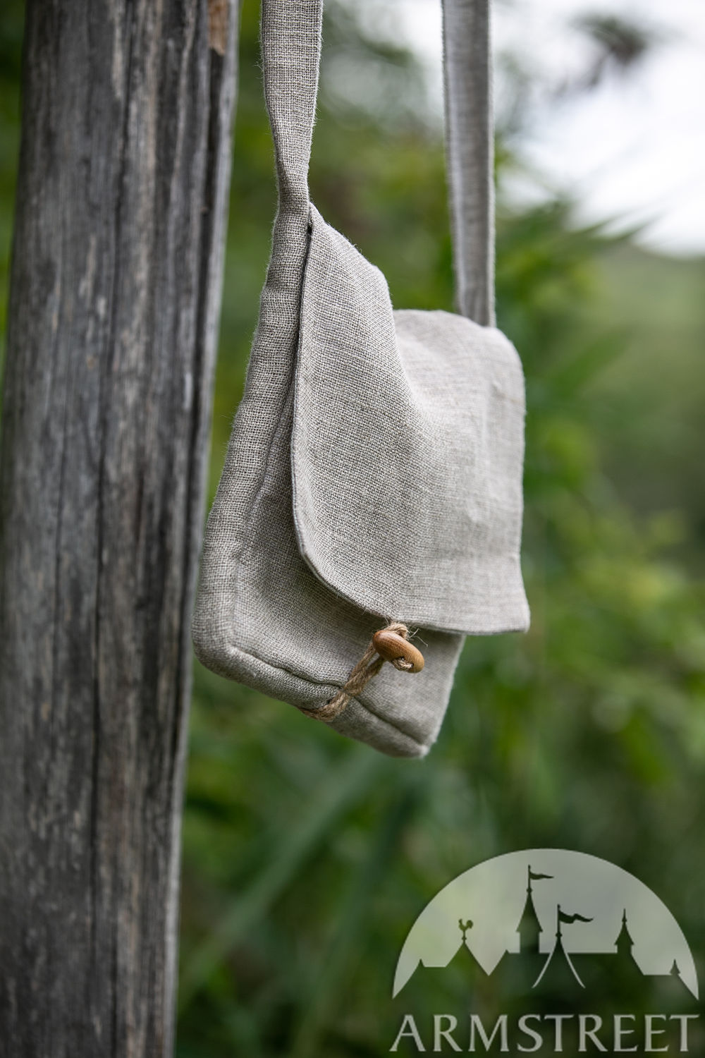 "Children's sackcloth linen bag ""First Adventure"" pilgrim's satchel"