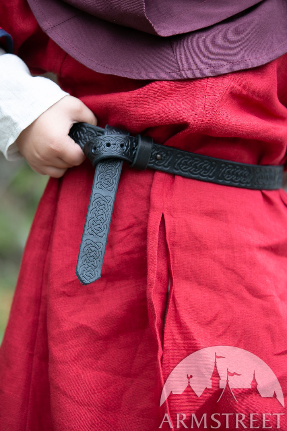 "Kids belt made of embossed leather ""First Adventure"""