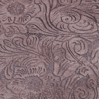 Grey Brown embossed leather sample